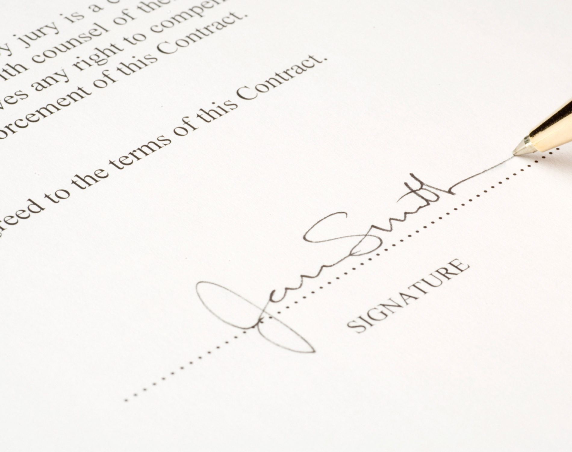 Document with signature
